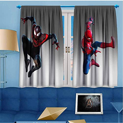 Avengers Curtain Valance Ultimate Alliance 2019 Miles Morales vo Customized Curtains