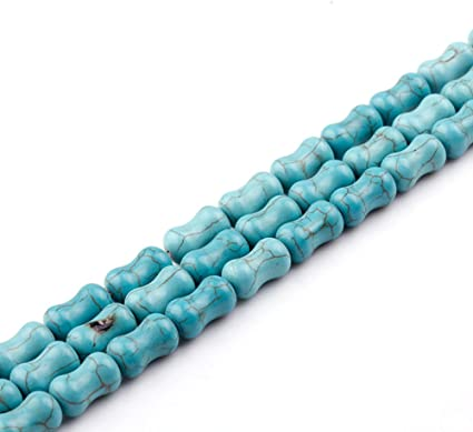 Amazon Com Jartc Natural Green Turquoise Bone Shaped Beads Loose For Jewelry Making 15 Arts Crafts Sewing