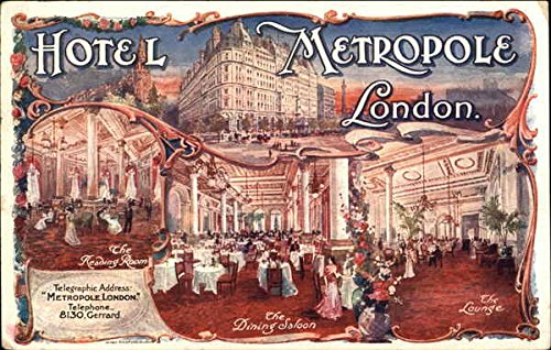 Vintage Advertising Postcard: Hotel Metropole, Lomdon Advertising ()