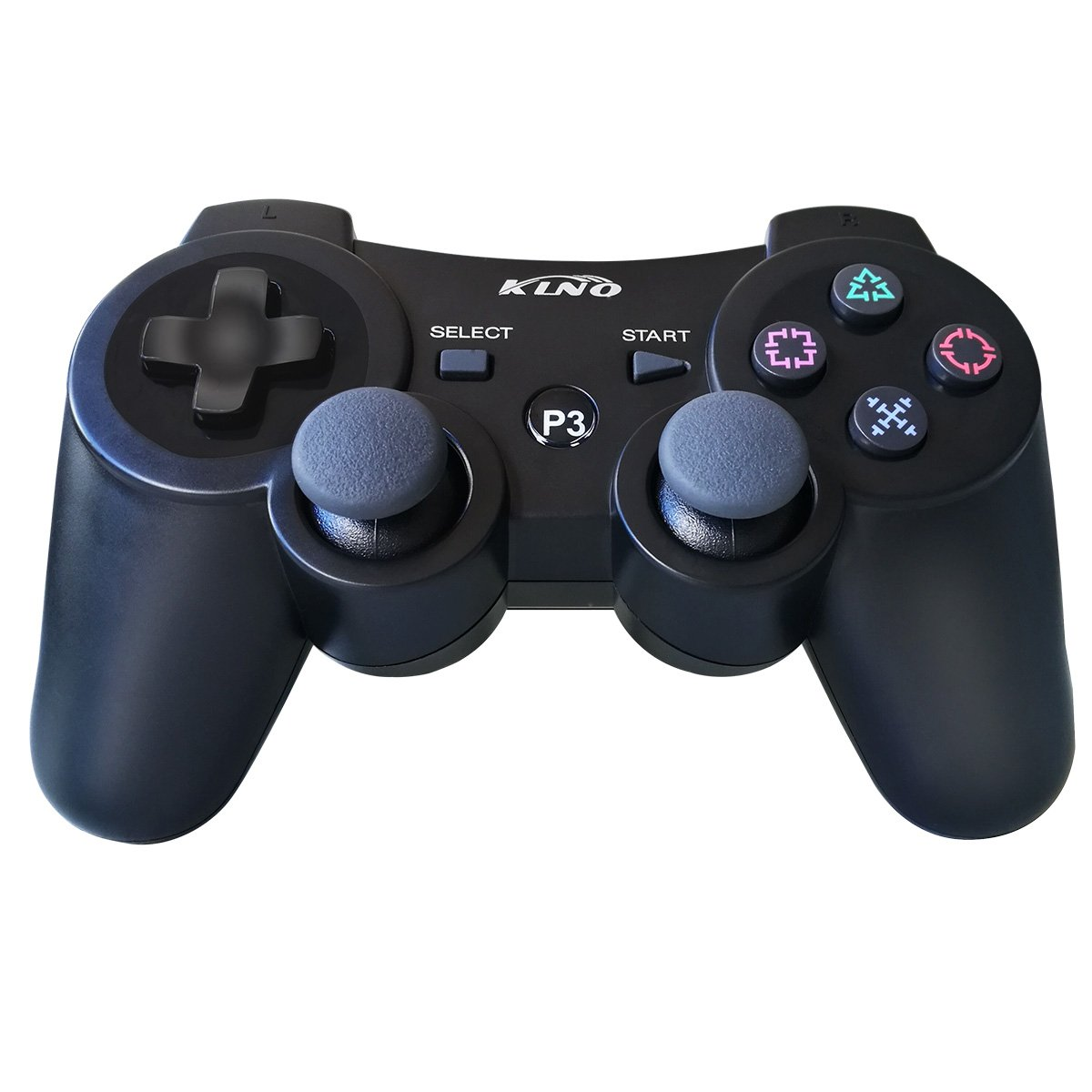 PS3 Controller Wireless Dualshock Joystick - KLNO PS39 Bluetooth Gamepad Sixaxis, Super power, USB Charger, Sixaxis, Dualshock3 including 1 cable For Playstation 3 we are klno,NOT turin.co