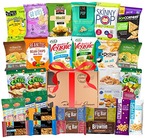 ALL-NATURAL-Healthy-Snacks-Care-Package-30-Ct-Bars-Cookies-Chips-Crispy-Fruit-Trail-Mix-Gift-Box-Office-Assortment-Variety-Pack-College-Student-Military-Care-Package-Gift-Basket-Alternative