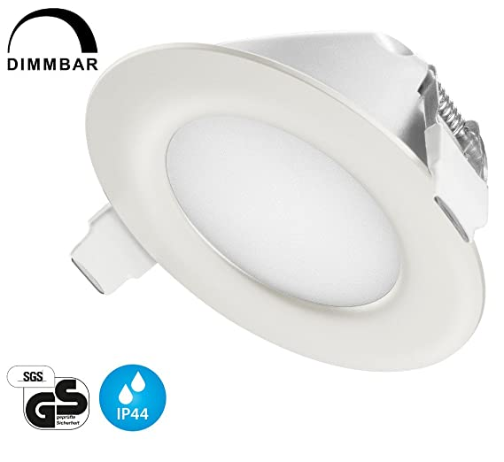 Tevea® - Bombillas LED empotrables IP44, ultraplanas, regulables para uso doméstico