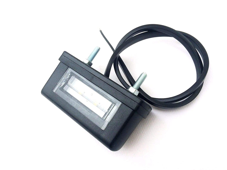 Wohnwagen LED Kennzeichenleuchte Nummerschildleuchte Kennzeichenbeleuchtung f/ür Anh/änger Wohnmobile Trailer Baumaschinen LKW