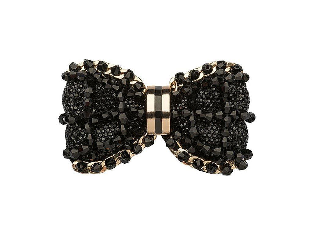 La Loria Black Heart boucle clip couleur noir Amovible Accessoires Bijoux de chaussures 2 pc La Loria Accessoires L 150