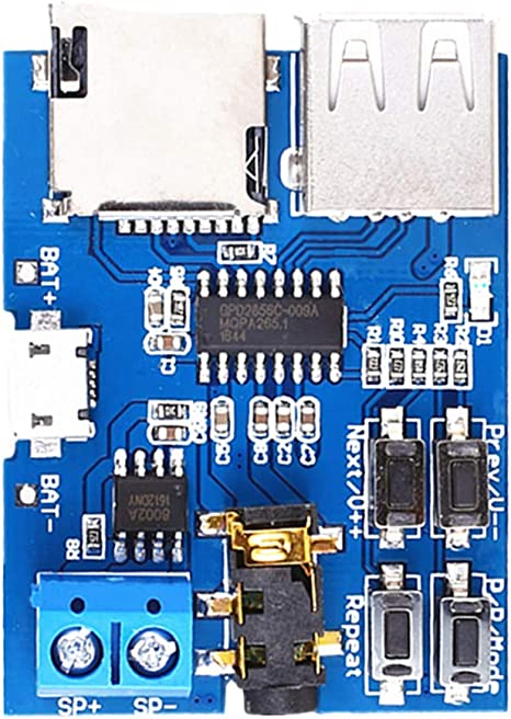 TF Card U Disco Formato MP3 Amplificatore Scheda Audio Module