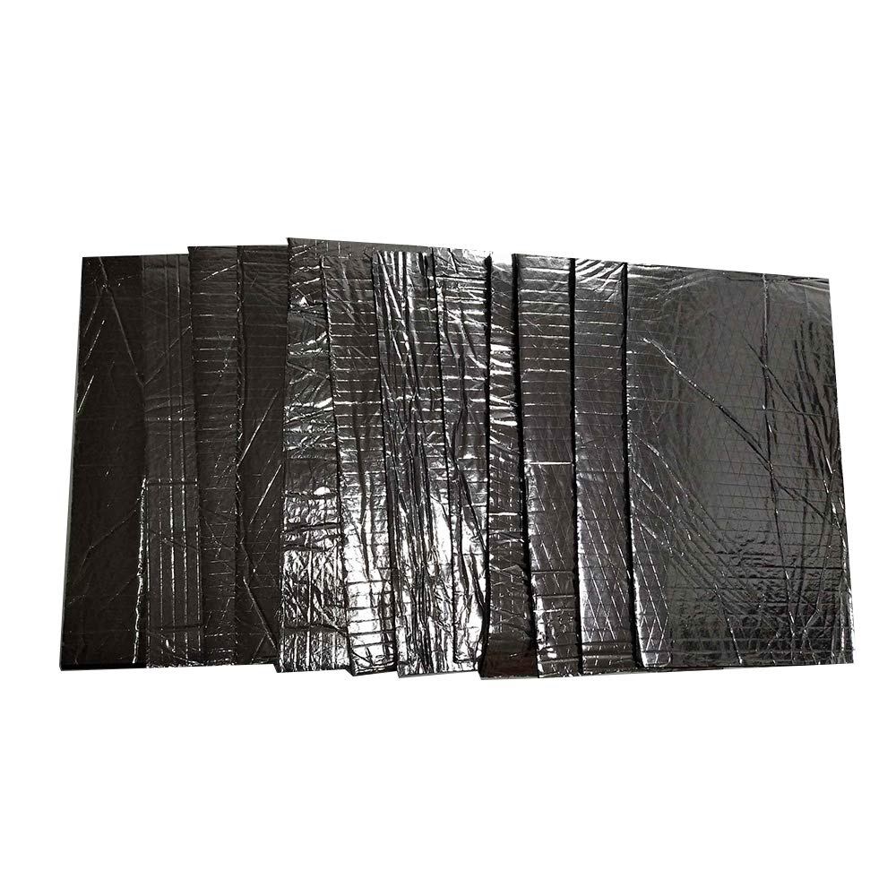 KKmoon 12PCS 5mm Car Firewall Sound Deadener Heat Shield Insulation Audio Noise Insulation Deadening Material Mat Pad