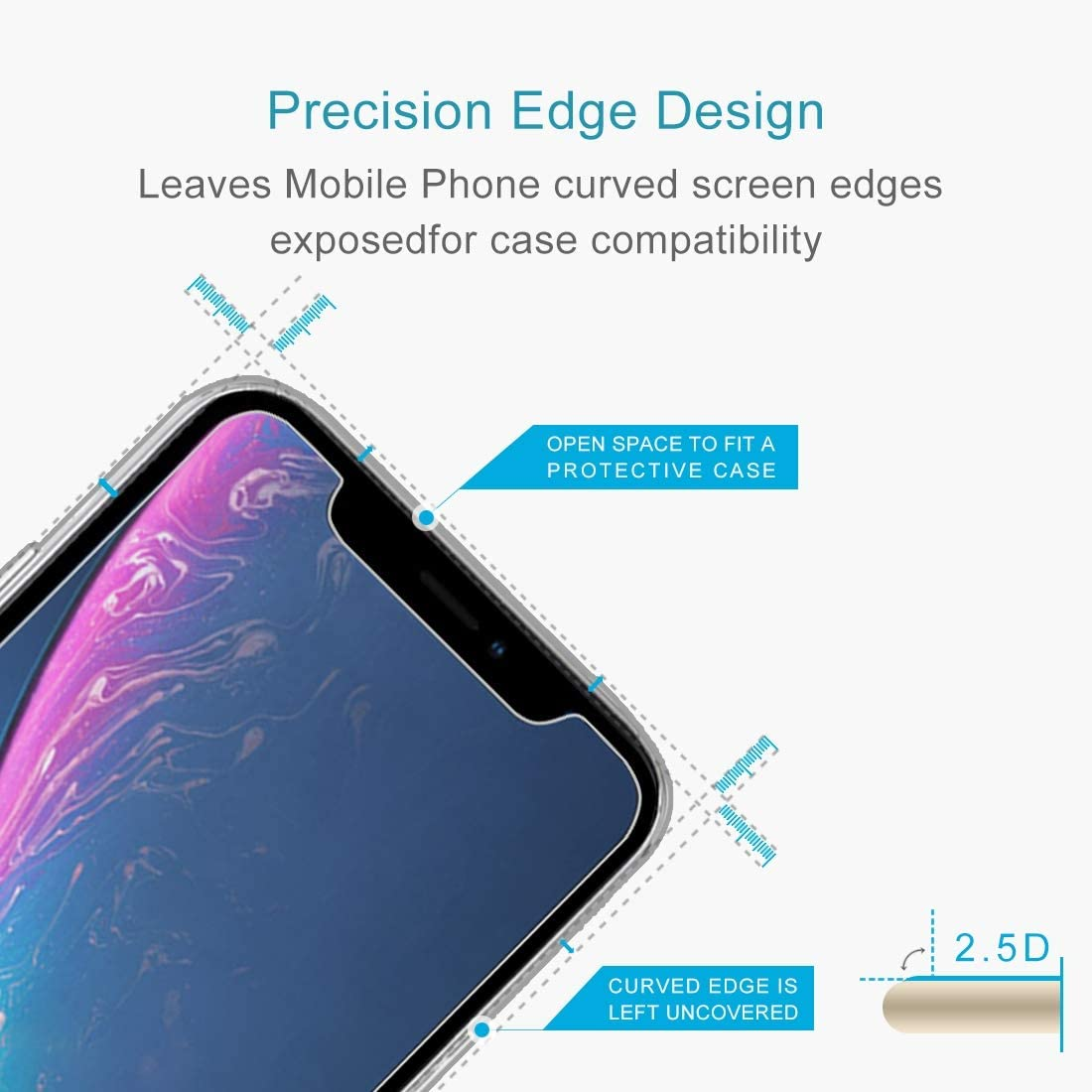 XHC Screen Protector 50 PCS 0.3mm 2.5D 9H Tempered Glass Film for iPhone 11 Tempered Glass Film