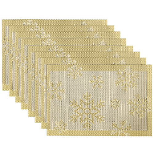 SiCoHome Christmas Snowflake Decoration Deluxe Gold