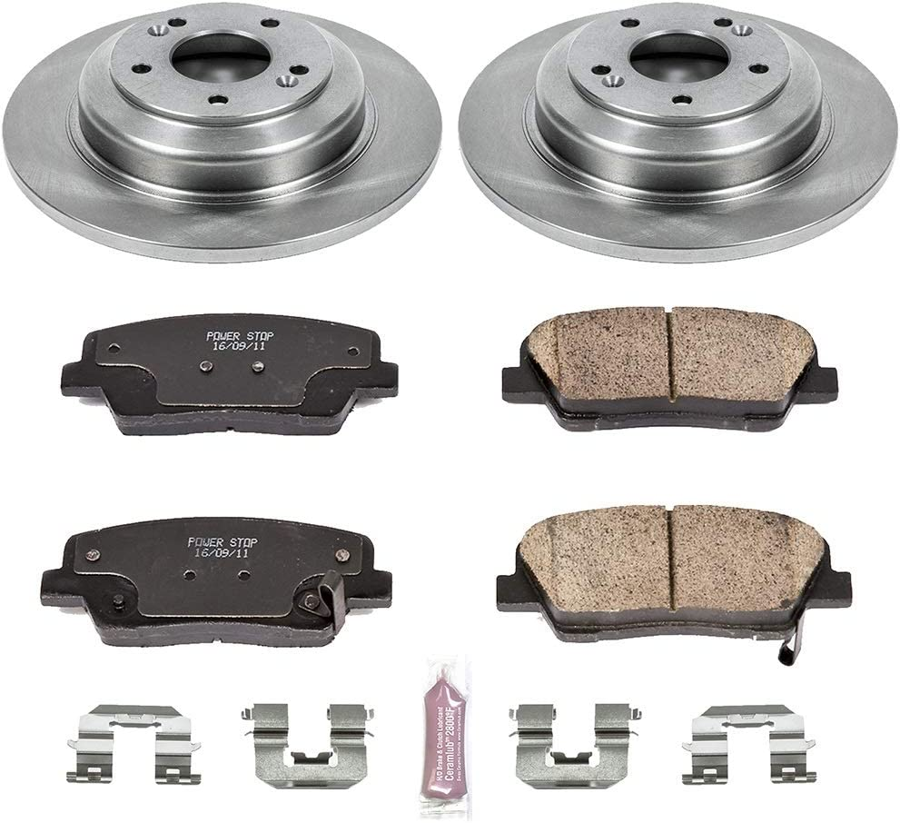 Autospecialty KOE6544 Daily Driver 1-Click OE Replacement Rear Brake Kit