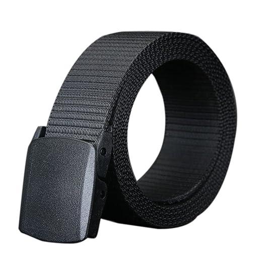 1bd0c029d80 Nanxson(TM) unisex Outdoor tactics Canvas flat buckle Belt multi colors  PDM0011 (black