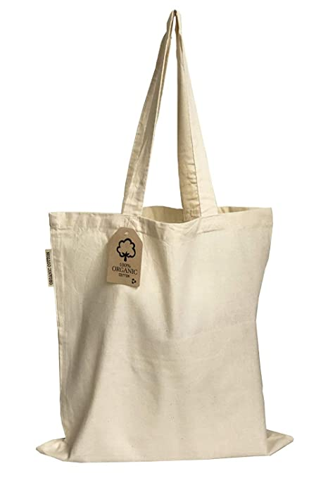 201f1d24e6 Amazon.com: Set of 12 - Organic Cotton Canvas Tote Bags 15