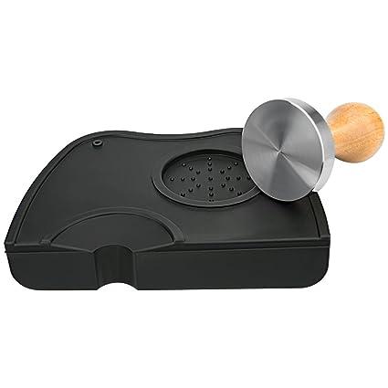Luxebell Juego de Tamper Espresso de 56 mm - Empujador de café profesional fabricado en acero