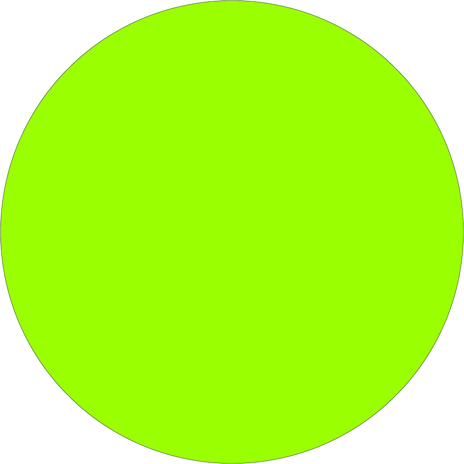 BOX USA BDL615J Tape Logic Inventory Circle Labels,4 Pack of 500 Fluorescent Green