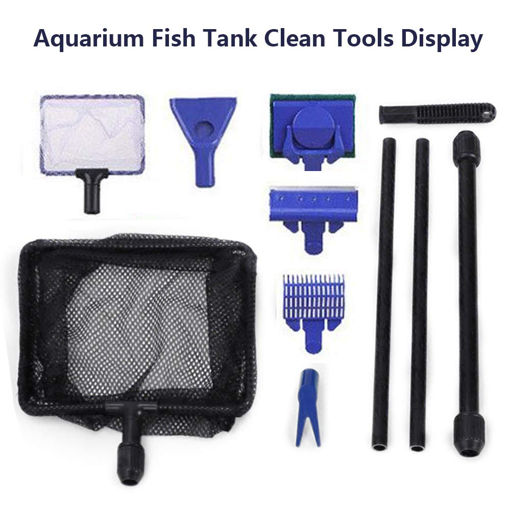 Toopify Aquarium Fish Tank Clean Tools, 6 in 1 Adjustable Cleaning Kit & Fish Tank Gravel Cleaner Siphon for Water Changing and Sand Cleaner by Toopify (Image #2)