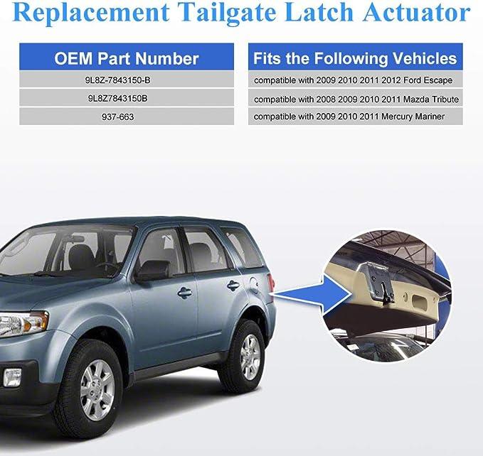 Motors HIMIKI Liftgate Actuator Trunk Lock Actuator Trunk Latch ...