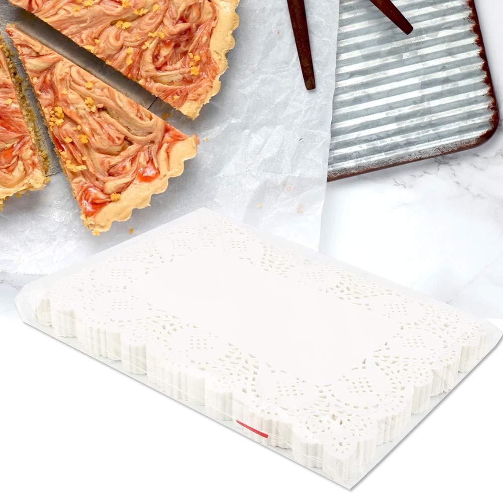 WYANG 140pcs rettangolo Bella Carta da Forno Olio macchiando Carta Torta di Pane Pasticceria Pizzo Carta stuoia 23 16 cm