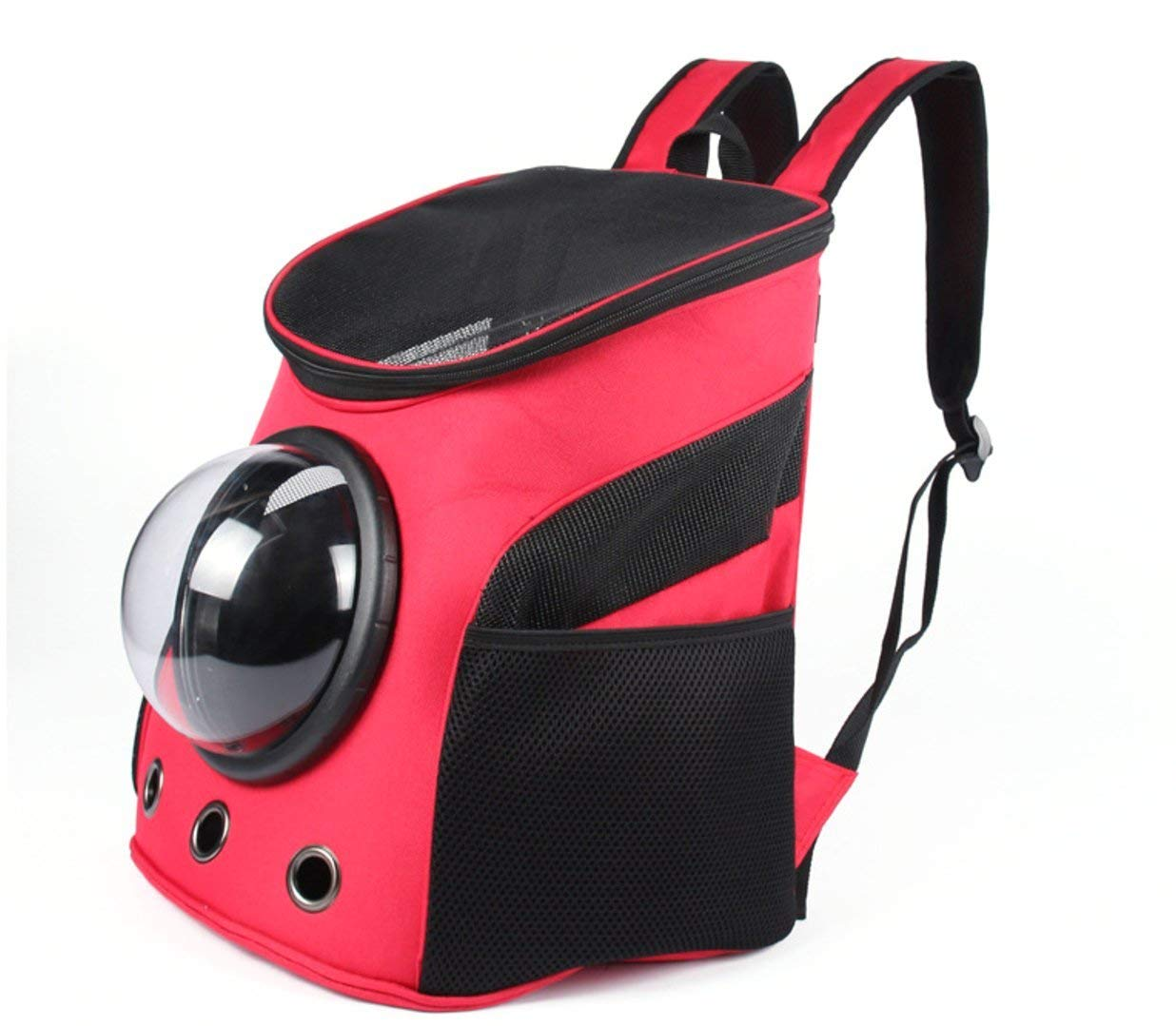 Orange DingSheng Canvas Transparent and Breathable Capsule Portable Pet Backpack for Adventure with Travelling
