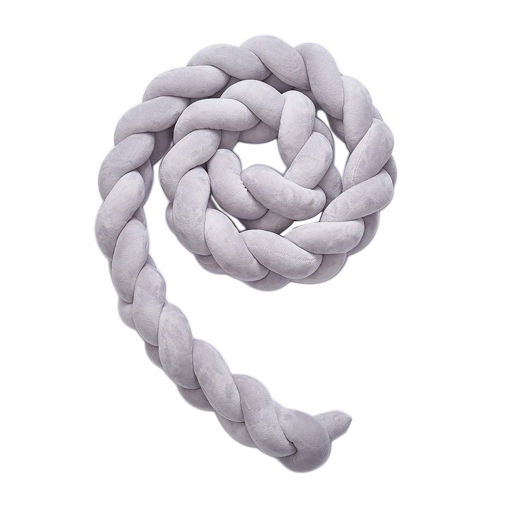 Newly Baby Crib Bumpers Braids Childrens room decoration DIY hand-made twist bed circumference Long knot ball pillow