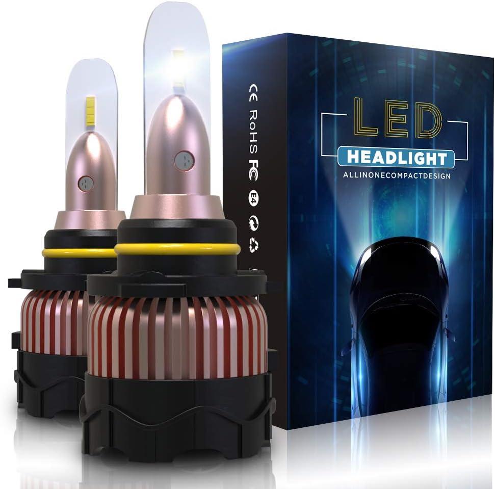Bombilla 9005/HB3 LED Coche 10800LM Faros Reemplazar de a Luz Halógena y Xenon HID, CSP Súper Brillante 6000K, 2 Lámparas