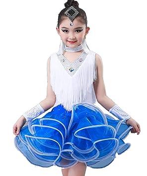 SMACO Vestido de Baile Latino para niños, Traje de Teatro ...