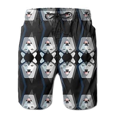 524325d615 PPANFKEI Siberian Husky Dog Linen Mens Boardshorts Swim Trunks Men Tropical  Running Soccer Board Shorts Jersey