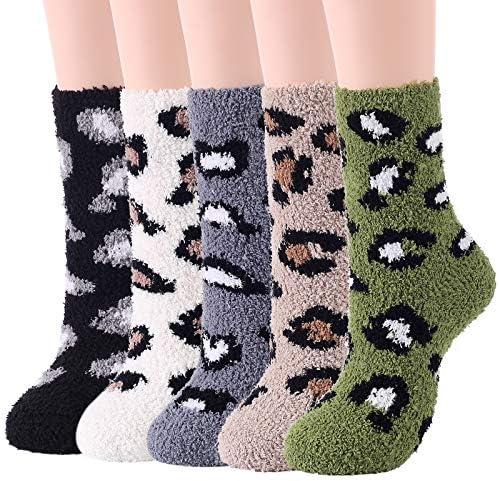 Fuzzy Socks Womens Fluffy Socks Soft Warm Socks Christmas Fleece Socks Athletic Socks Sports Outdoor Socks