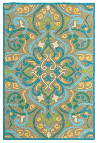 Price comparison product image Company C Morocco Synthetic Accent Rug, 8' x 10' , Aqua