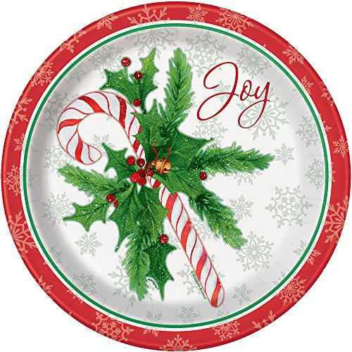 Candy Cane Christmas Dinner Plates, 8ct