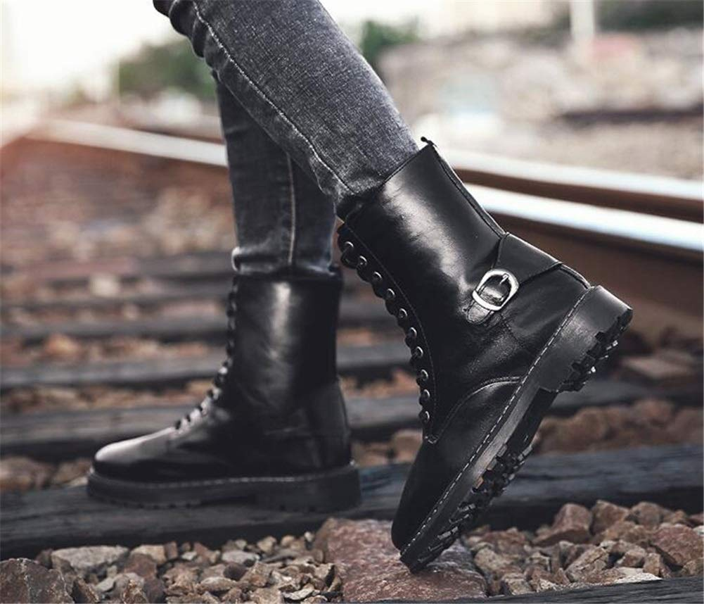 Männer Männer Männer Schuhe Herrenschuhe, British Style High-Top-Schuhe Militärstiefel Größe Winterstiefel Herren Retro Trend Stiefelies Academy Herrenmode Stiefel (Farbe   C, Größe   43) 698cb4