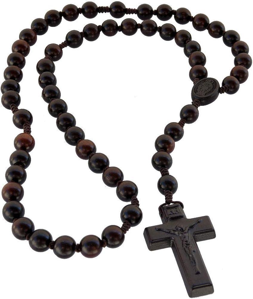 Sine Cera Dark Jujube Wood Rosary 10mm