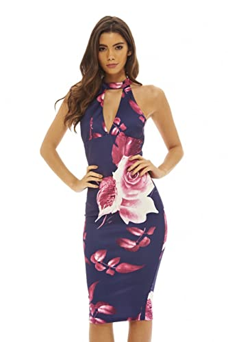 AX Paris Women's Cut Out Floral Bodycon Dress