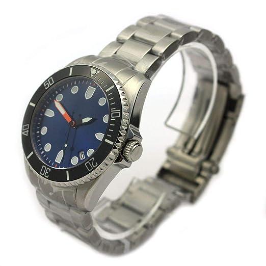 Reloj De Buceo automático WCC Alemania Diver Cristal de zafiro cerámica bgw9 300 M 0045 Azul: Amazon.es: Relojes