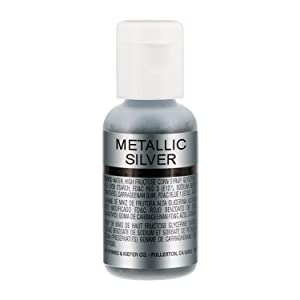 U.S. Cake Supply .7fl oz Metallic Silver Airbrush Food Coloring