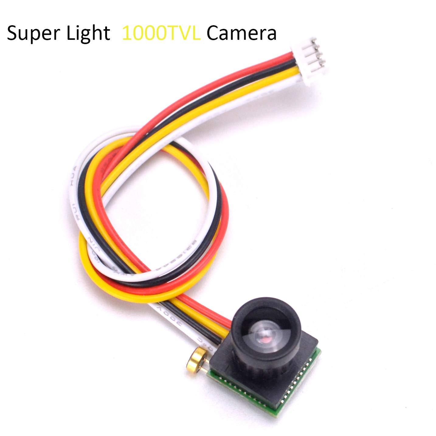 FPVKing Micro 1000TVL FPV Camera 1/4 CMOS 2.8mm Lens Super Light FOV 90 Degree Sensor Mini Camera for RC Racing Drone