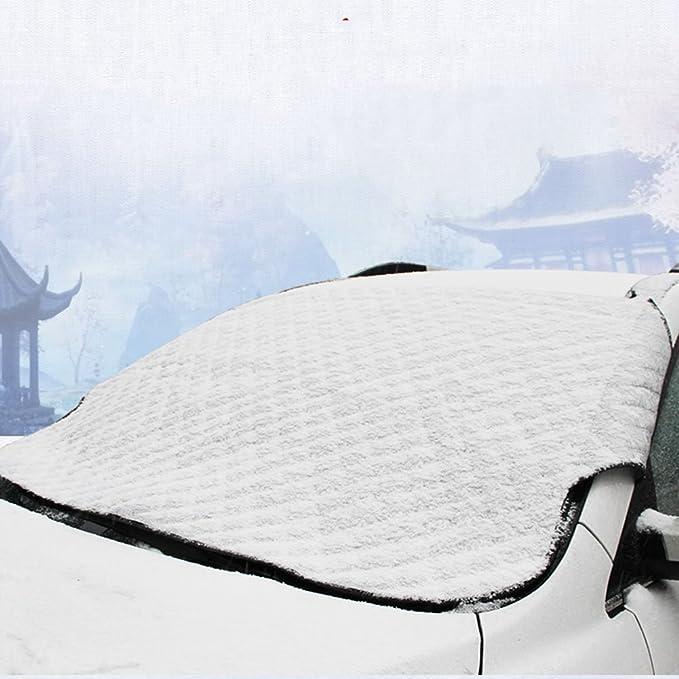 Tomkity Frontscheibe Abdeckung Winterschutz Eisschutzfolien Auto Scheibenabdeckung Frostschutz Windschutzscheibe Faltbare Auto Abdeckung Für Winter Auto