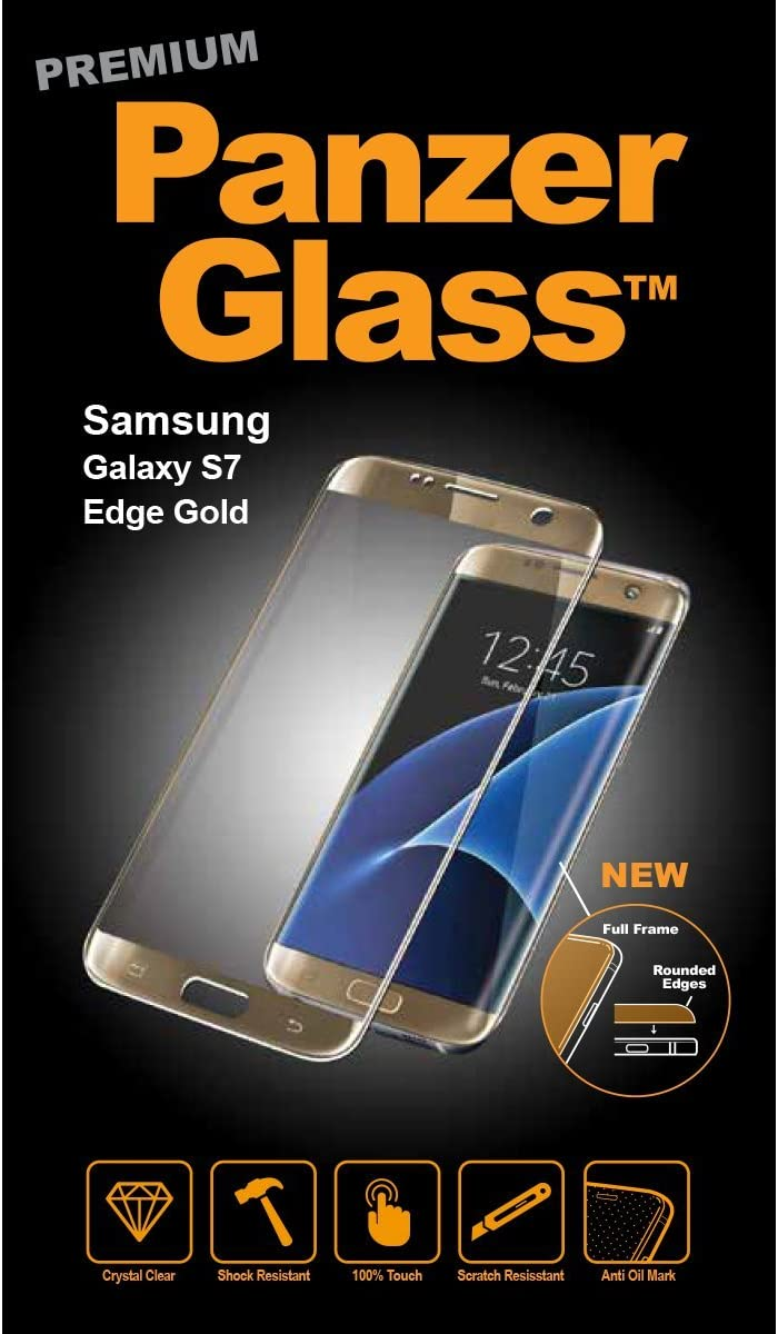 PanzerGlass 1049 - Protector de Pantalla para Samsung Galaxy S7 Edge, Color Oro: Amazon.es: Electrónica