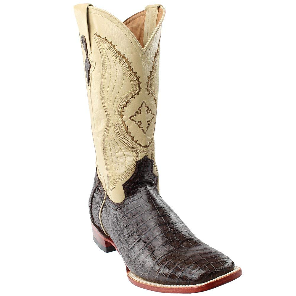 7fe0e7cad88 Amazon.com: Ferrini Men's Caiman Belly Cowboy Boot Wide Square Toe ...