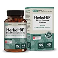 Herbal-BP Natural Blood Pressure Supplement by DailyNutra - Supports Cardiovascular...
