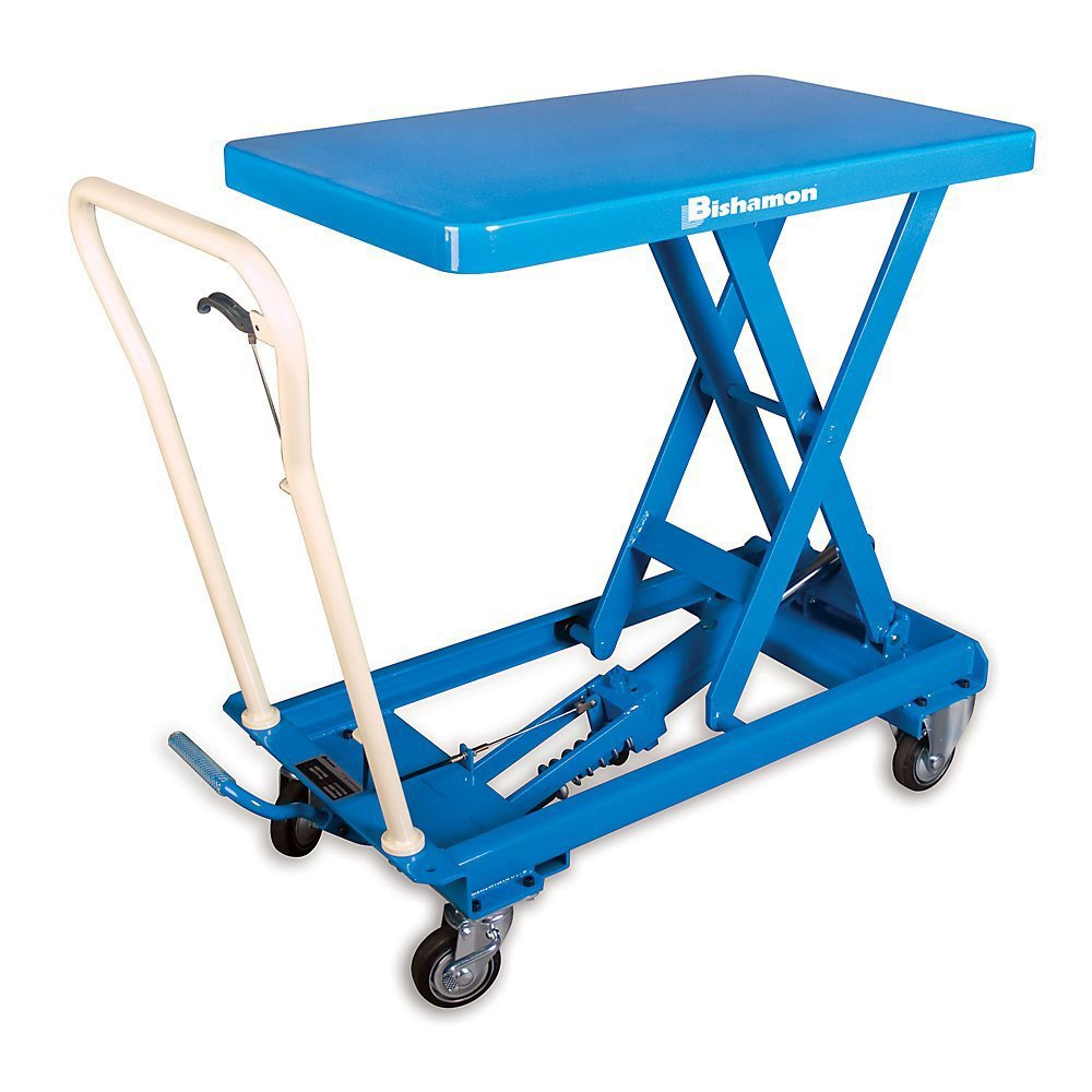 220 lb 31 Height Bishamon BXS-10 BX Series Mobilift Stainless Steel Model Capacity