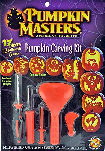 Pumpkin Masters Pumpkin Carving Kit with 12 Patterns & Tools -