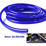 1 pieza azul tubos de coche vehículo silicona 4 mm X 5m manguera de vacío tubo