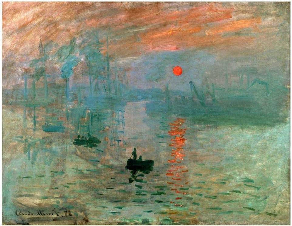 Legendarte Cuadro Lienzo, Impresión Digital - Impresión. Sol Naciente Claude Monet, cm. 80x100 - Decoración Pared