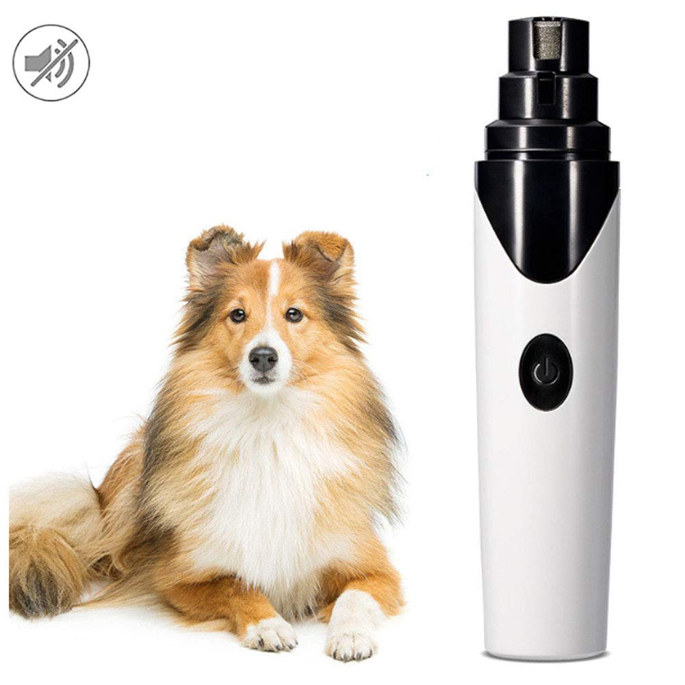 WAFOR Pet Nail Grinder,Dog Nails Clippers Ultra Quiet, Low Vibration Dog Nail File,USB Charging Dog Claw Clippers,Suitable for Small and Medium Dogs Dog Nail File