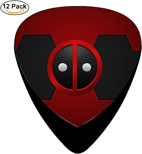 Deadpool Wade Wilson Logo disfraz Classic guitarra celuloide púas ...