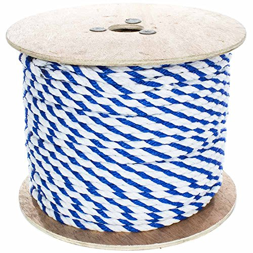 Nylon Twisted Chain - West Coast Paracord Twisted Polypropylene Pool Rope 1/4, 3/8, 1/2, 3/4