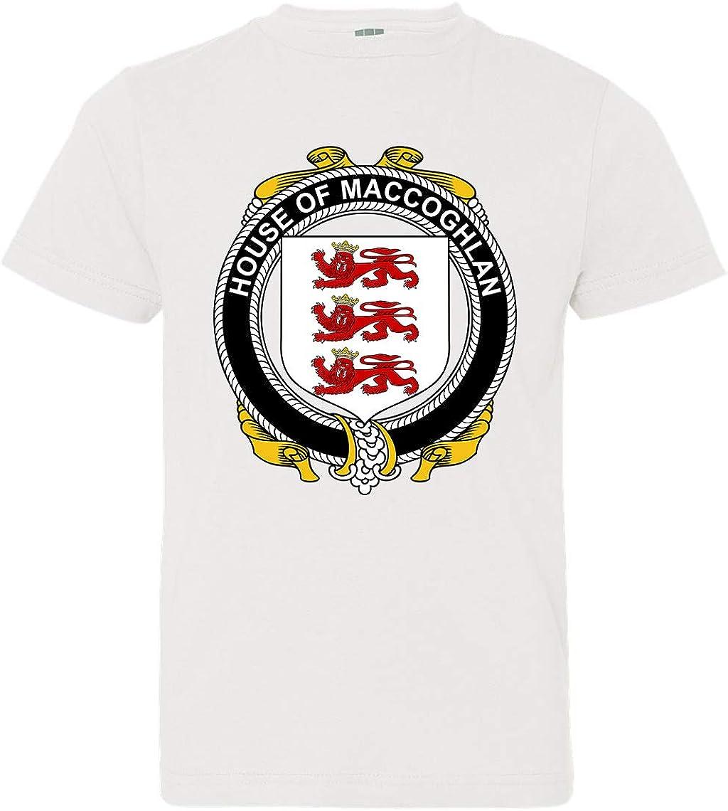Tenacitee Boys Youth Irish House Heraldry Maccoghlan T-Shirt