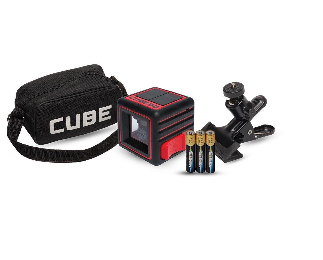 AdirPro Cube 3D Cross Line Laser Level Home, Red/Black