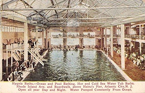 Atlantic City New Jersey Hygeia Baths ocean pool bathing antique pc Z3466