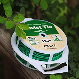 Multi-Purpose 328 feet Garden Ties Twist Ties Plant Ties with Cutter, Twist Ties for Plants Support Garden Office and Home Cable Organizing(1pc)