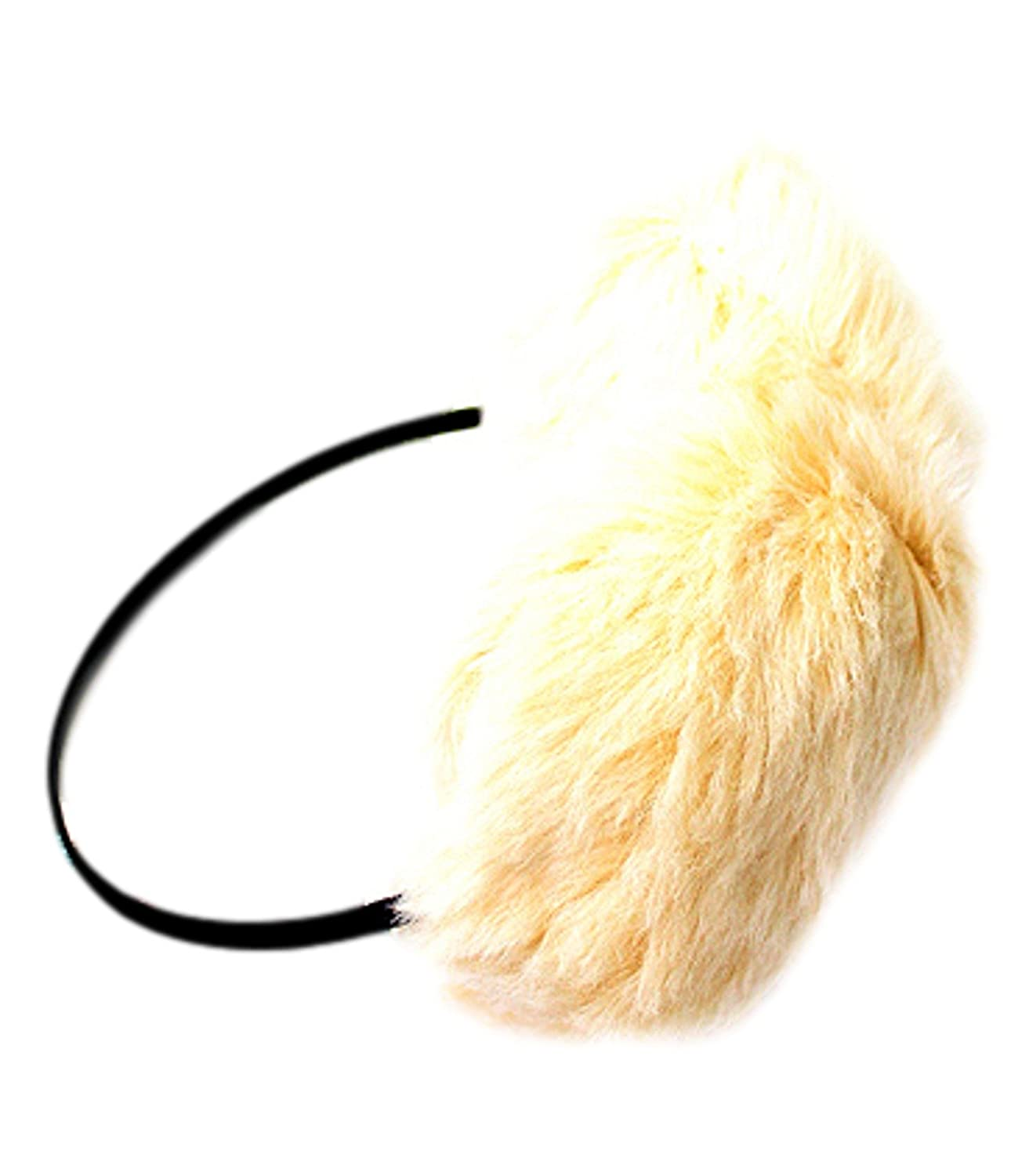 Lovely Ivory Fuzzy Earmuffs